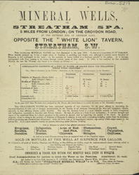 Advert for the Streatham Spa